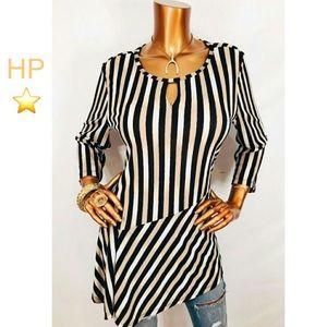 🌎 Dana Buchman Striped Tunic 🌏